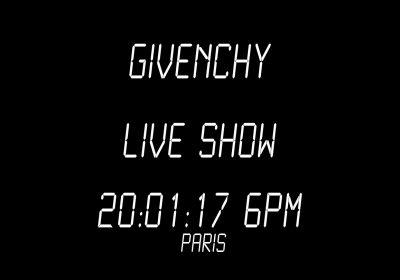 Livestream: Givenchy Men FW17