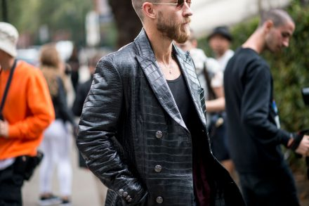 Streetstyle // Homens nas Fashion Weeks de mulher