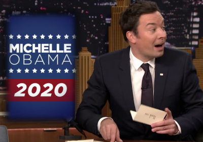 Jimmy Fallon desafiou Michelle Obama a candidatar-se a presidente