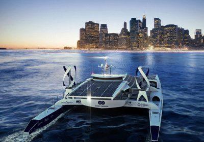 "Catamarã ""Energy Observer"" alimentado a energia solar, eólica e hidrogénio durante 6 anos"