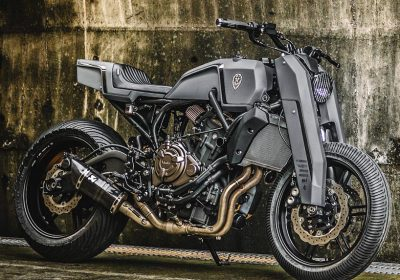 Yamaha MT 07 Onyx Blade customizada pela Rough Crafts