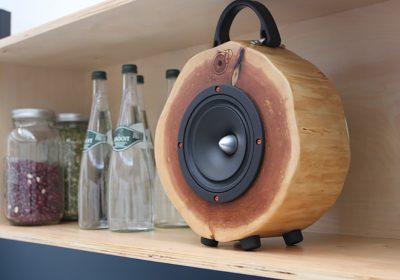 Rockit Log: colunas que dão nova vida à madeira